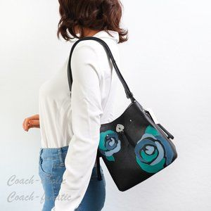 NWT Kate Spade Marti Floral Applique Bucket Bag